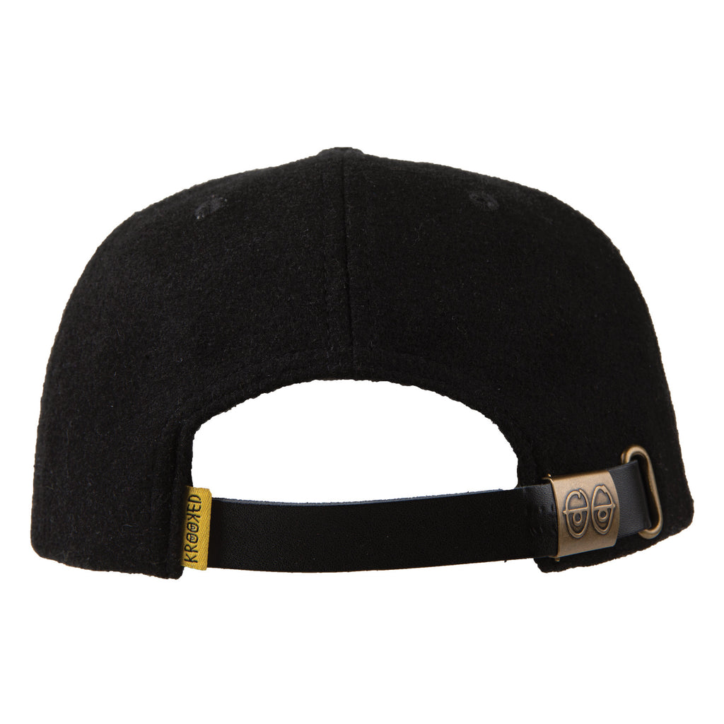 Krooked 6 Panel Hat K Love Black