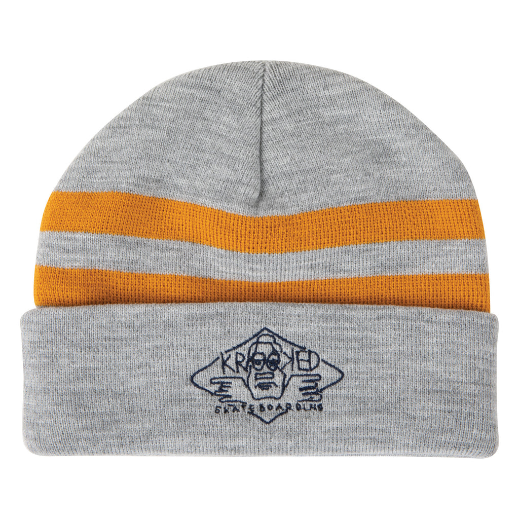 Krooked Beanie Arketype Cuff Heather Grey/Gold