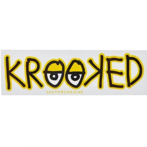 Krooked Sticker Eyes Yellow