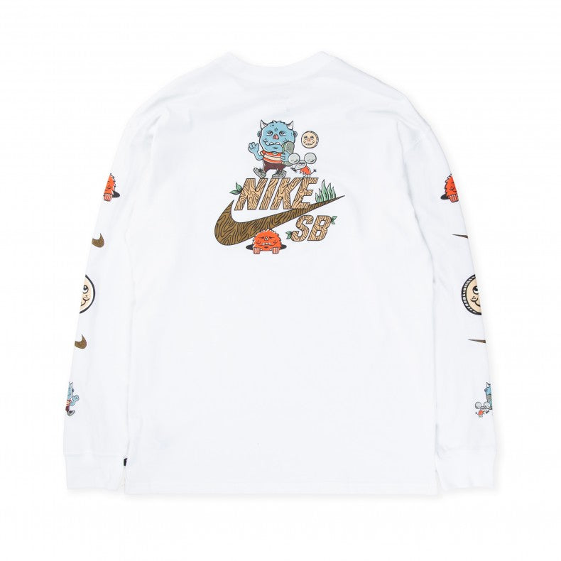 Nike SB Long Sleeve T-Shirt Artist Pocket White