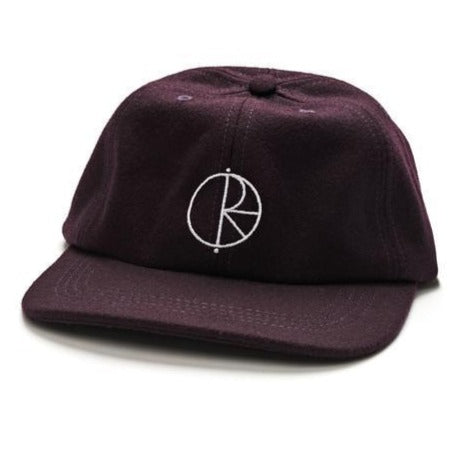 Polar 6 Panel Hat Wool Aubergine