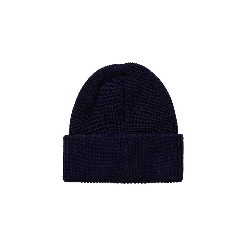 Polar Beanie Double Fold Merino Rich Navy