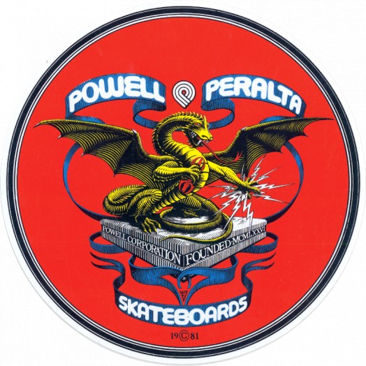 Powell Peralta Sticker Banner Dragon