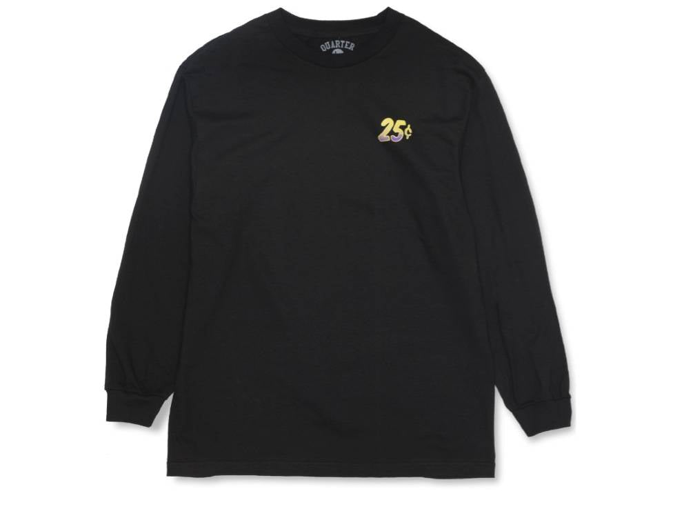 Quartersnacks Long Sleeve T-Shirt Snackman Flyer Black