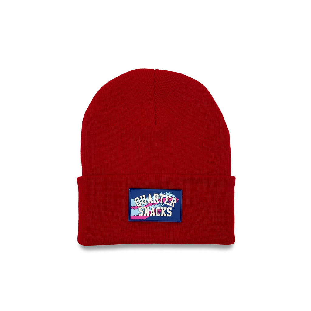 Quartersnacks Beanie Rubber Label Red