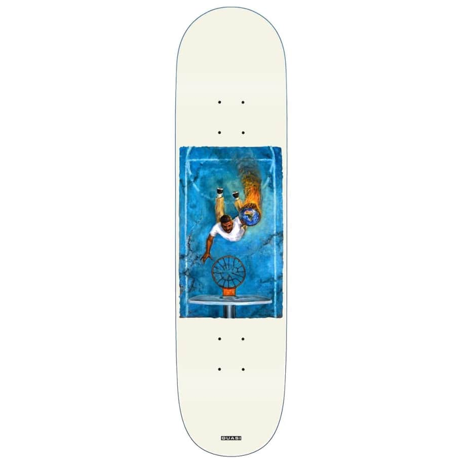 Quasi Deck Henry Game 7 White 8.25""