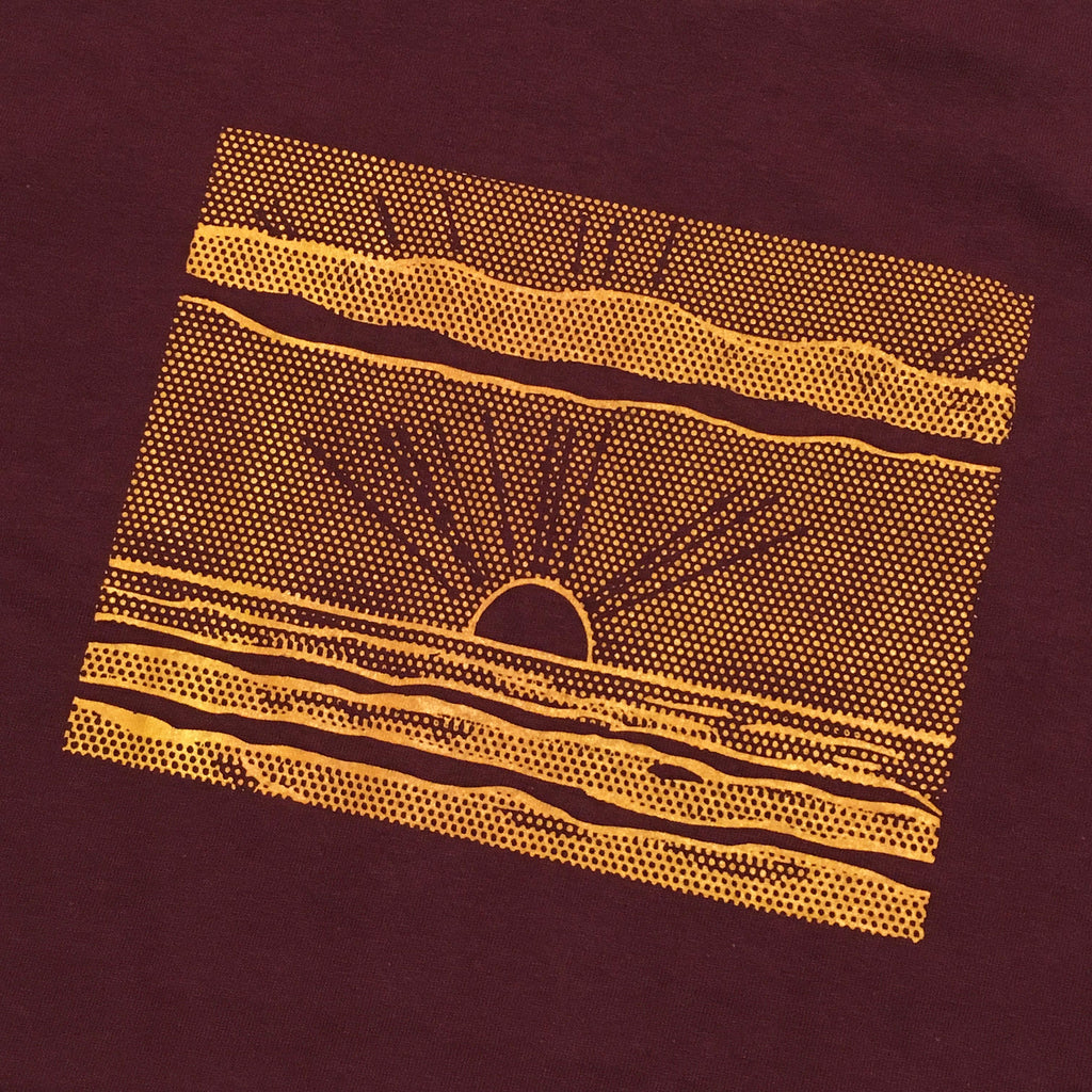 Blue Tile Lounge T-Shirt Sunrise Burgundy