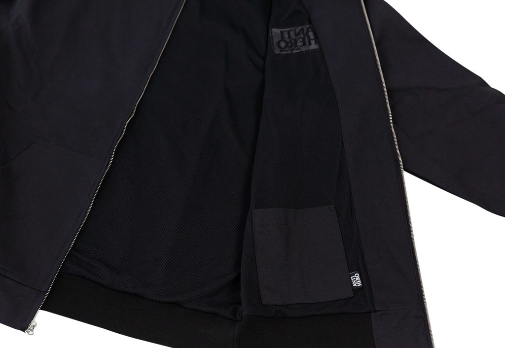 Anti Hero Jacket Reserve Custom Hooded Zip Up Black