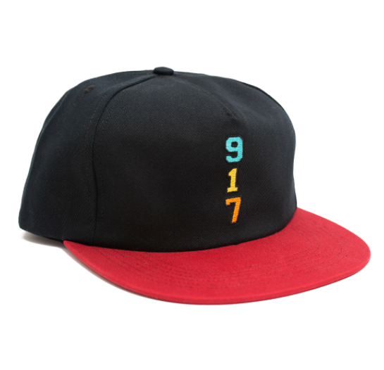 Call Me 917 Snapback Hat Genny's 917 Black