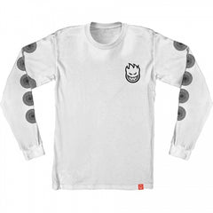Spitfire Long Sleeve T-Shirt Stock Bighead Swirl White/Black