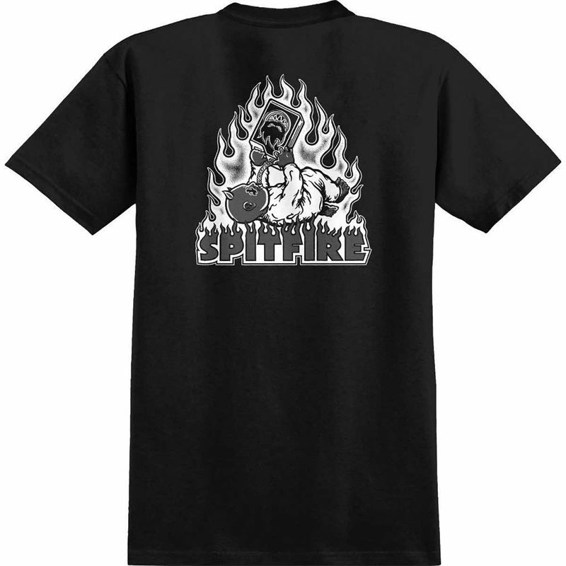 Spitfire T-Shirt Demonseed Raw Black/White
