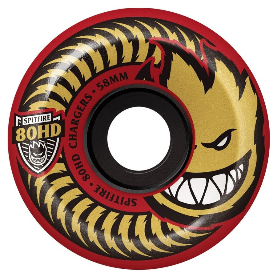 Spitfire Wheels 80HD Chargers Conical Red
