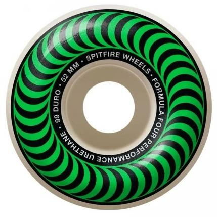 Spitfire Wheels F4 Classic Green 52mm 99D