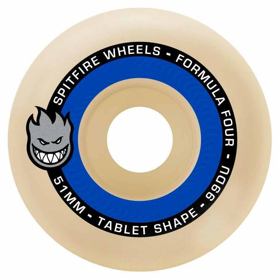 Spitfire Wheels Formula Four Tablets 55mm 99D