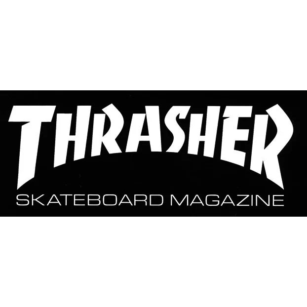 Thrasher Sticker Mag Logo Black