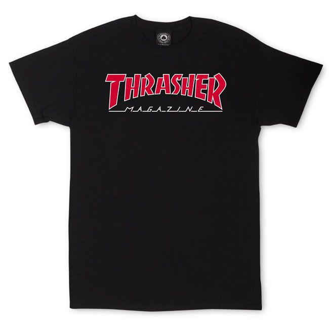 Thrasher T- Shirt Mag Outlined Black