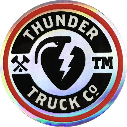 Thunder Sticker Mainliner Silver/Red