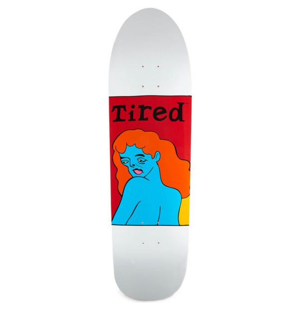 Tired Deck Womans Face on Slick 9.189""