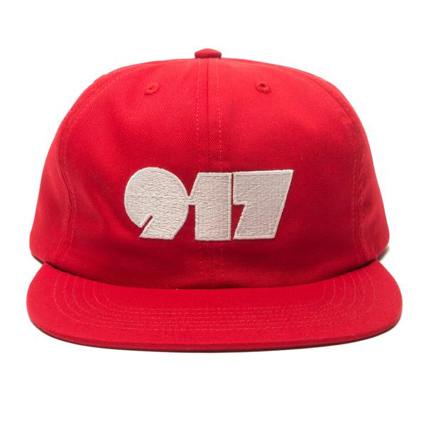 Call Me 917 Strapback Hat Typography Red