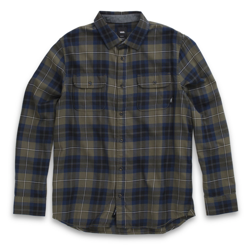 Vans Flannel Shirt Sycamore Grape Leaf-Dress Blues