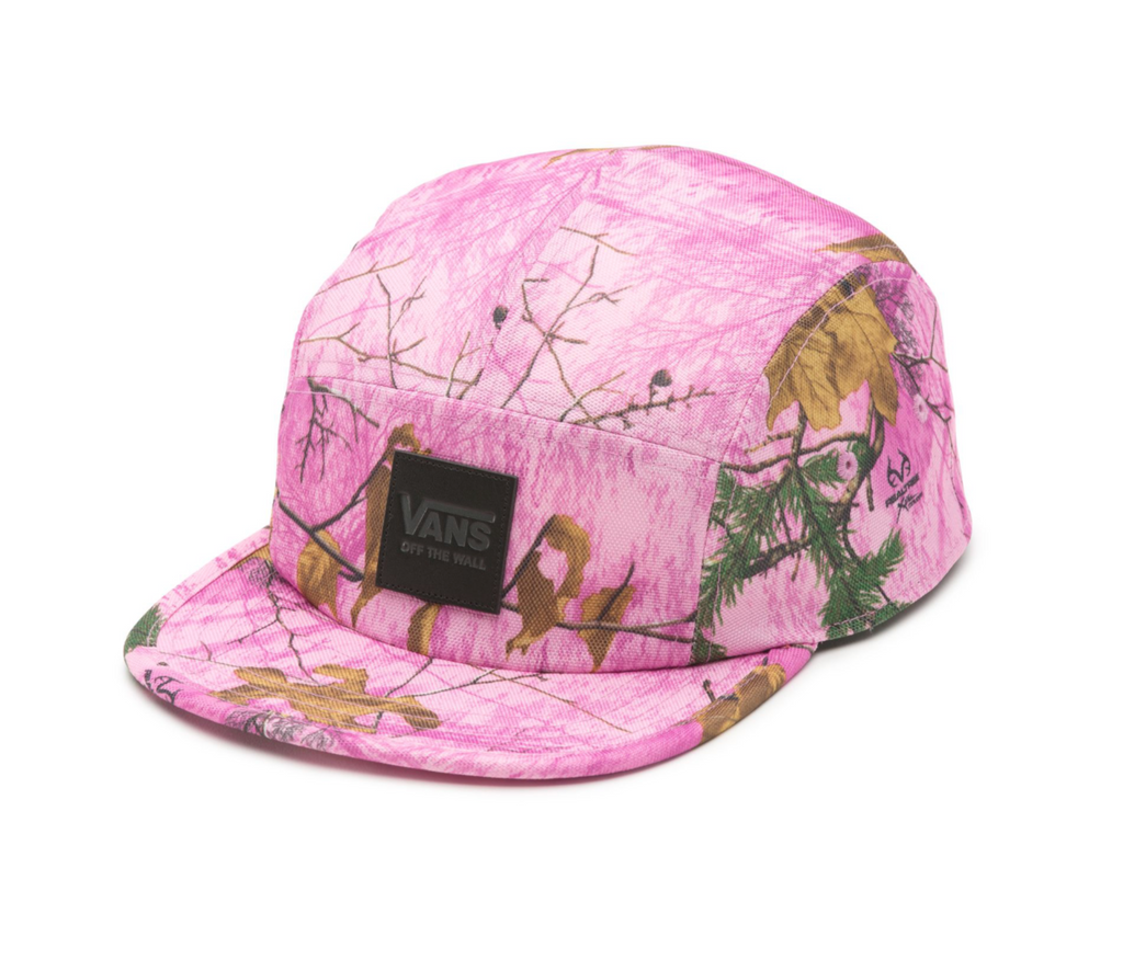 Vans 5 Panel Hat Real Tree Pink