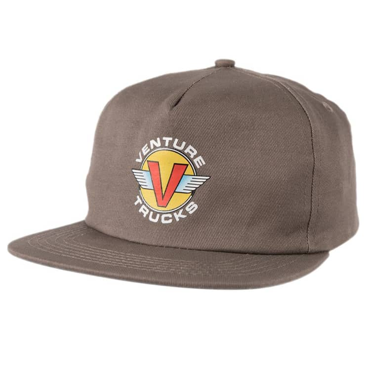 Venture Snapback Hat Wings Charcoal