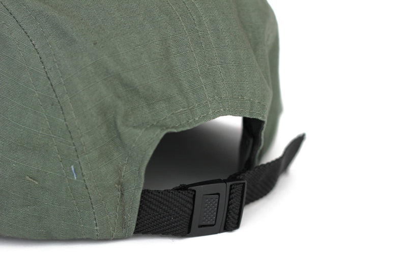 Blue Tile Lounge 5 Panel Hat OG Logo Green