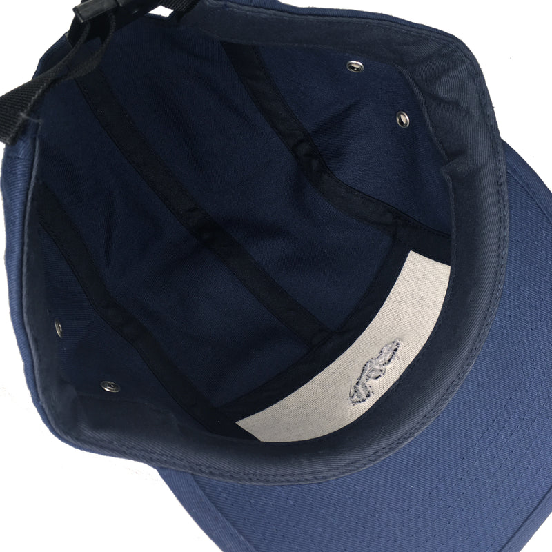 Blue Tile Lounge 5 Panel Hat Block Logo Navy