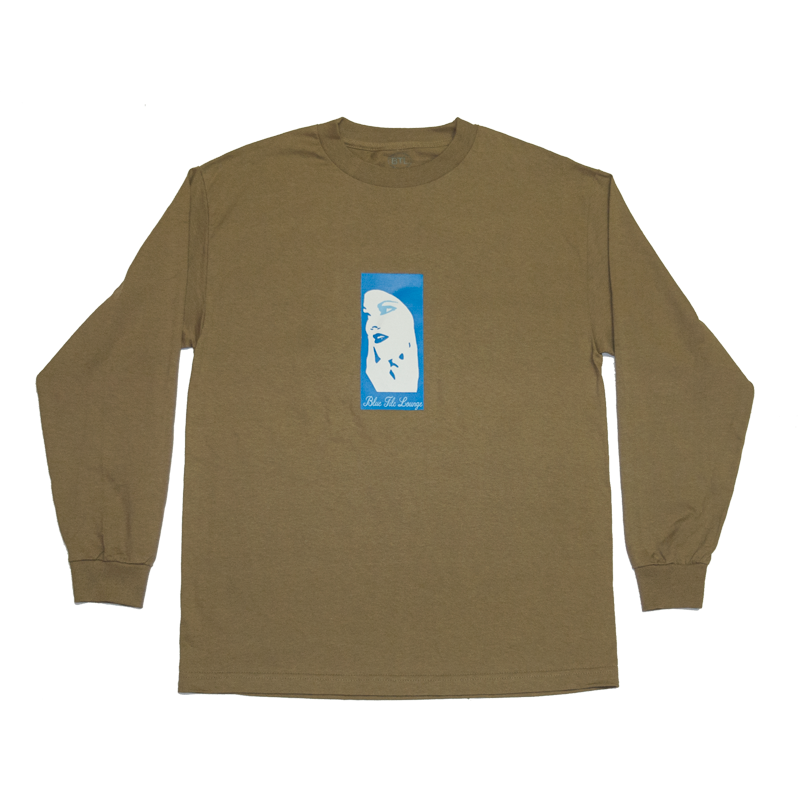 Blue Tile Lounge Long Sleeve T-Shirt Blue Girl Safari Green