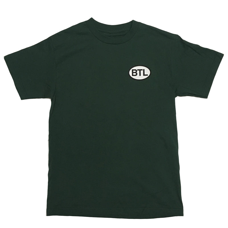 Blue Tile Lounge T-Shirt Country Code Forest Green