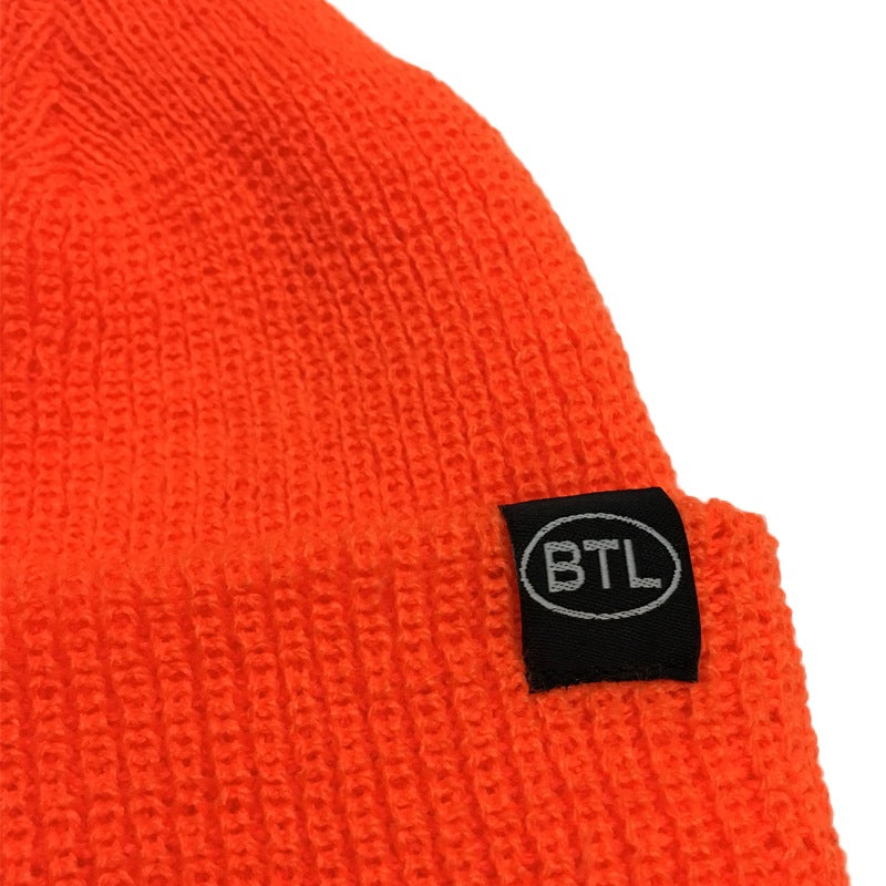 Blue Tile Lounge Beanie Country Code Orange