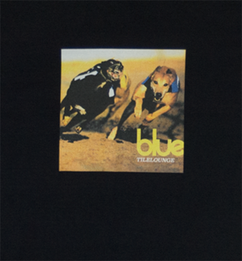 Blue Tile Lounge T-Shirt Parklife Black