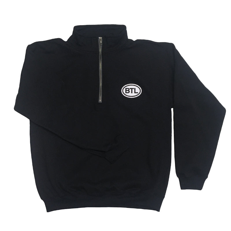 Blue Tile Lounge 1/4 Zip Sweater Country Code Black