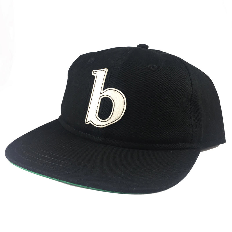 Blue Tile Lounge 5 Panel Hat Block Logo Black