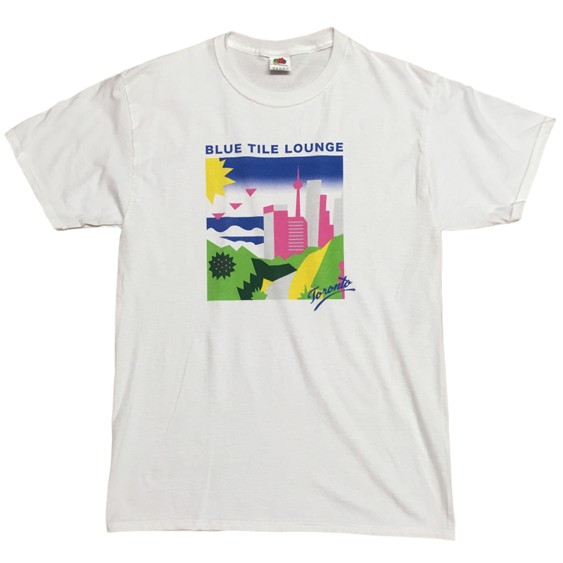 Blue Tile Lounge T-Shirt Souvenir 2.0 White