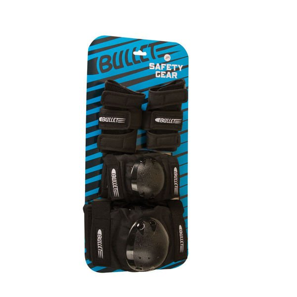 Bullet Pads Junior 3 Pack Black Youth OSFA