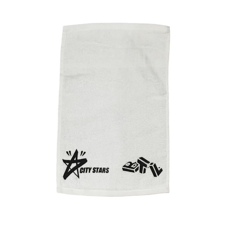 Blue Tile Lounge CITY STARS DEMO TOWEL - white