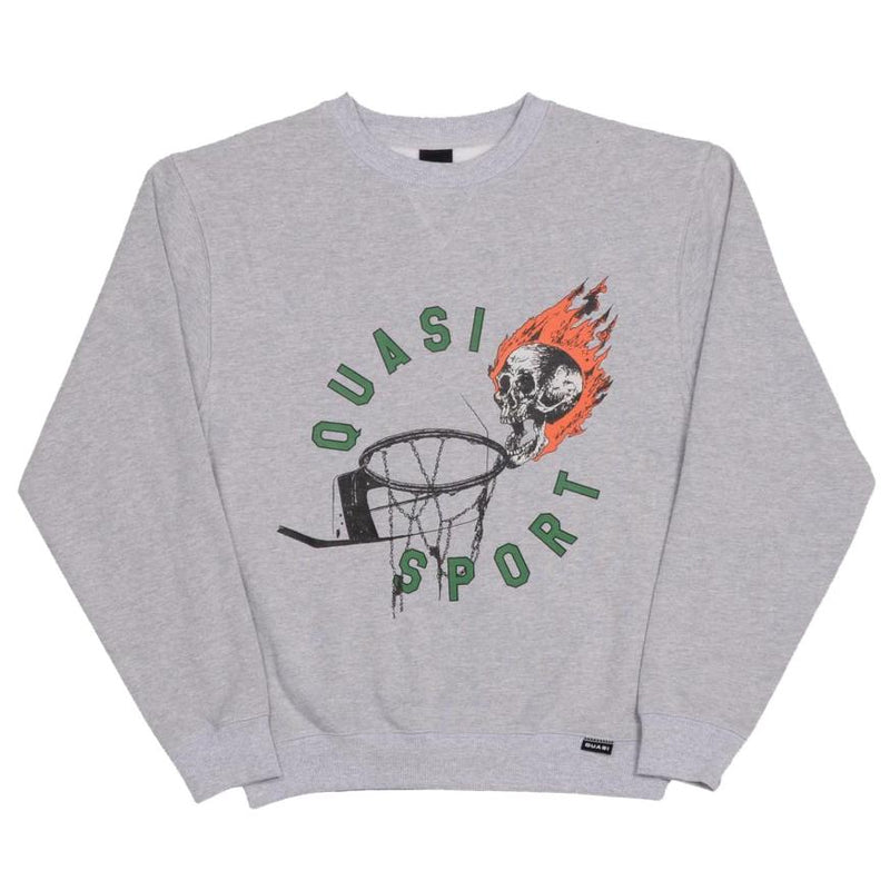 Quasi Crew Neck Sweater Ball Heather Grey
