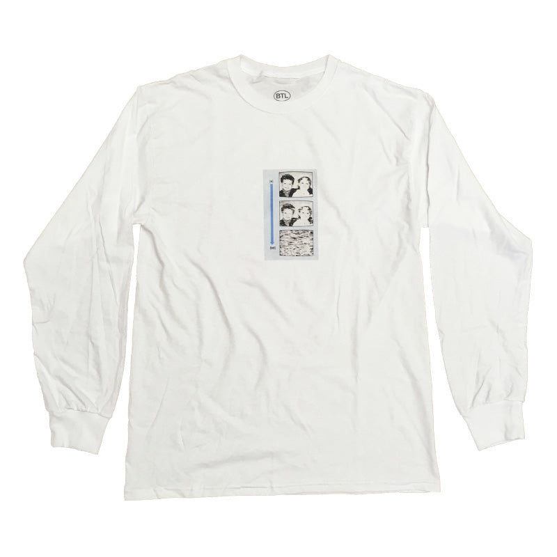 Blue Tile Lounge Long Sleeve T-Shirt Static White