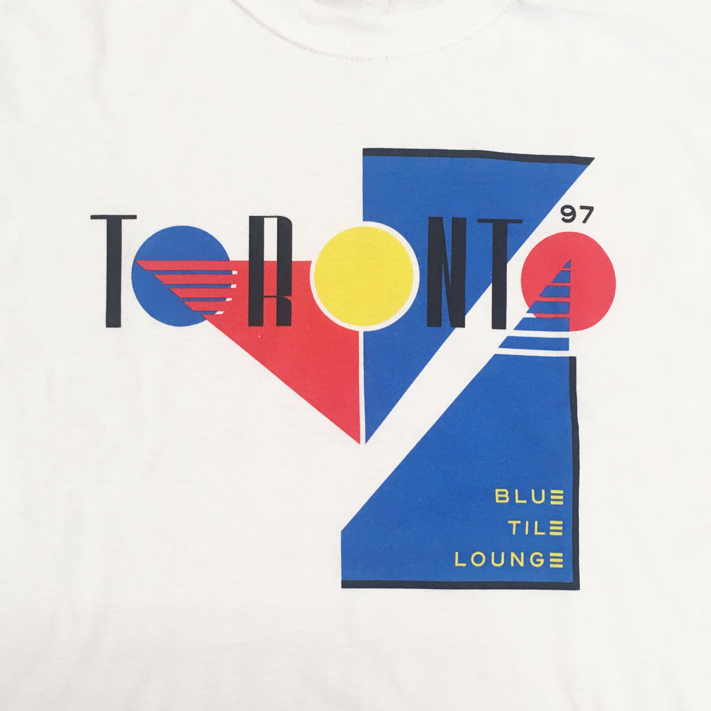 Blue Tile Lounge T-Shirt Souvenir 3.0 White