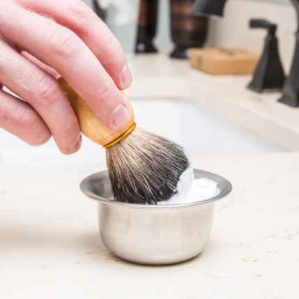 100% Pure Badger Shaving Brush and Bowl Online. For Guaranteed Best Shave of Your Life. Use for Old Fashioned Double Edge Safety Razor or Multi Blade Razor - Made for Modern Gentlemen - Bigfoot Shaves