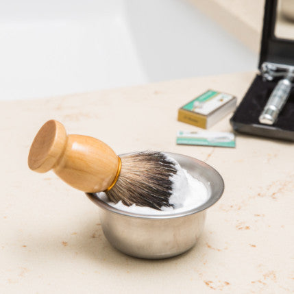 100% Pure Badger Shaving Brush and Bowl - Bigfoot Shaves