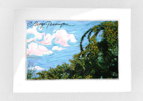 """Post-Impressionist Landscape"" Matted Mini"