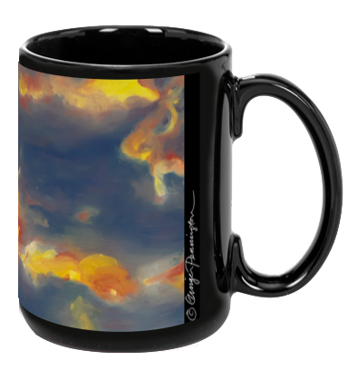 """Strawberry Skies (top)"" Mug"