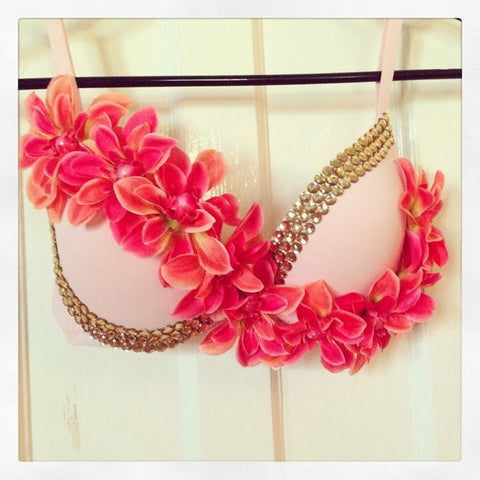 ASYMETRICAL FLOWER BRA - CUSTOMIZE ME! - FreetheSpirit