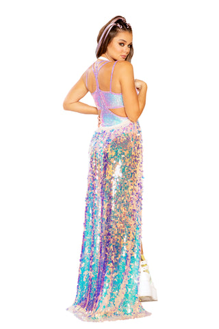 Cotton Candy Sequin Gypsy Skirt - FreetheSpirit