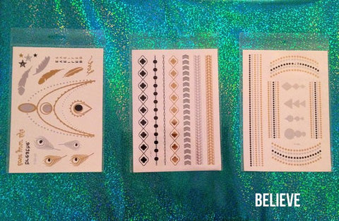 FLASH METALLIC TATTOOS - FreetheSpirit