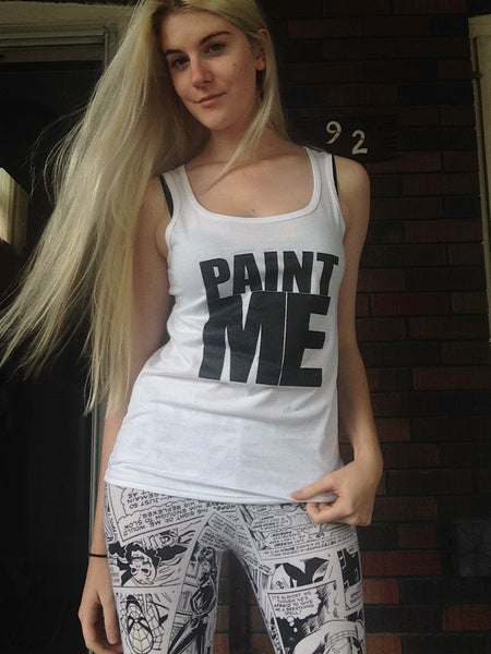 Women's PAINT ME Tank Top - FreetheSpirit