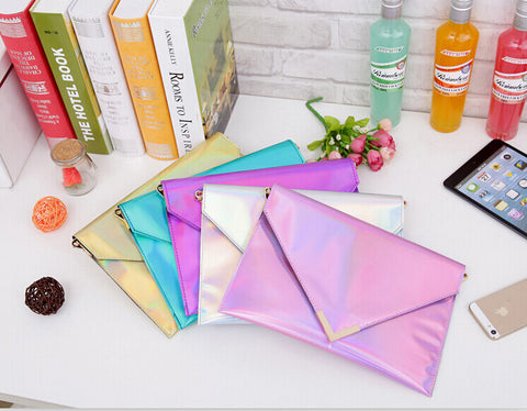Holographic Envelope Clutch - FreetheSpirit