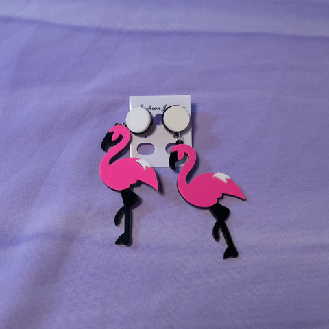 Flamingo Fun Earrings - FreetheSpirit